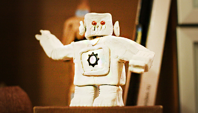 Business Process Automation Robot in Japanese.